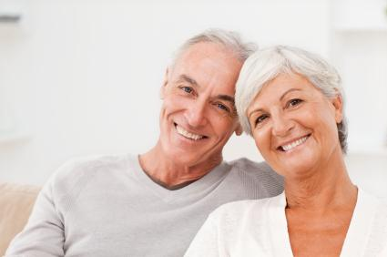 A couple smiles | dental implants evansville