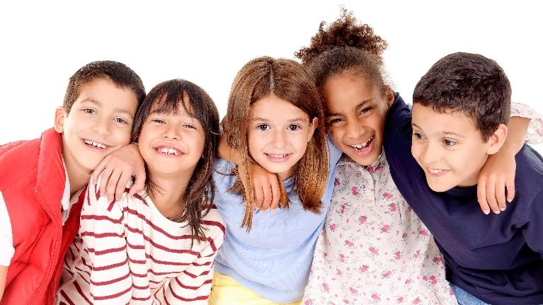 A group of children smiling | Dentist Evansville IN